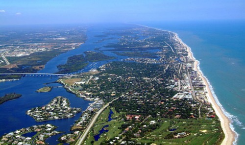 Vero Beach section of Indian River Lagoon