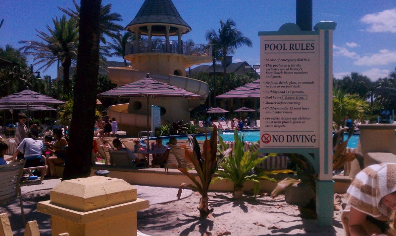 The pool at Disney Resort