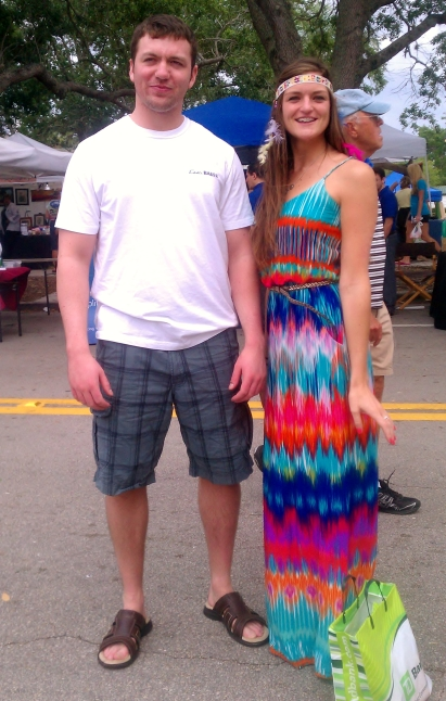 Jack and Maggie at the Hibiscus Festival, 2012