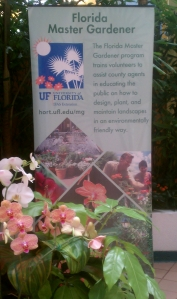 Florida Master Gardener Sign at Epcot Festival Booth