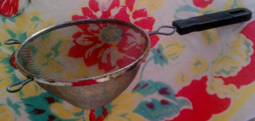 Old time mini-strainer!