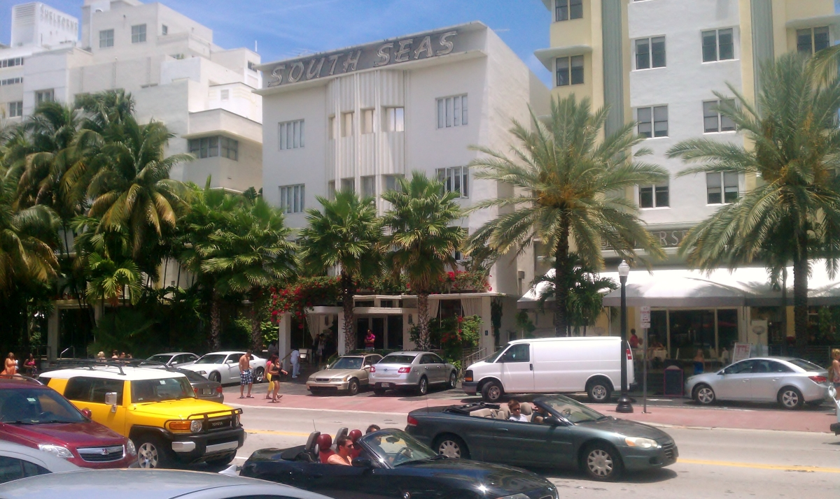 Collins Ave, South Beach. daytime
