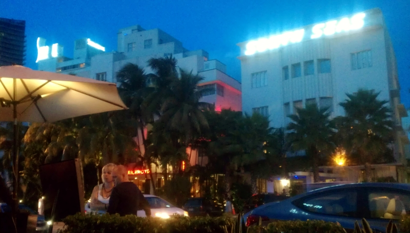 Collins Ave, South Beach nighttime