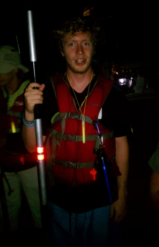 Seamus, Nighttime Kayaking, August 2012