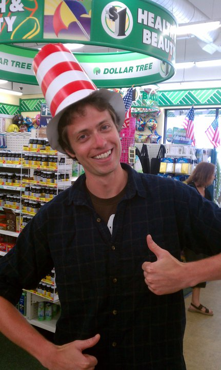 TC as the Cat in the Hat