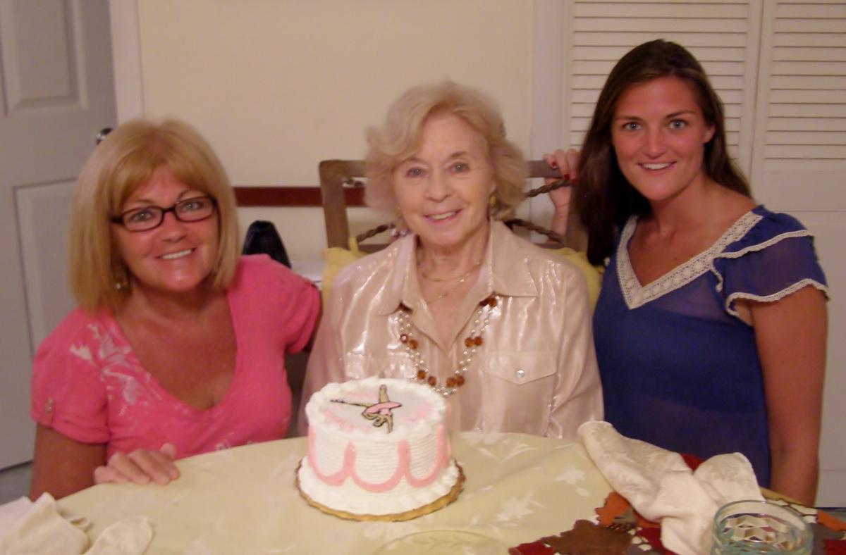 Karen, Rita, Maggie, on Rita's Birthday, October 2012