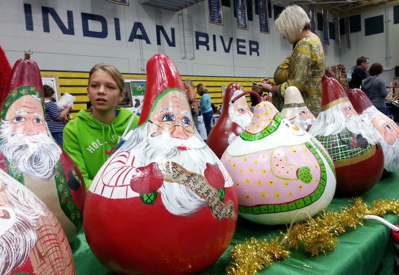 Gourd Christmas Art, 12/01/12