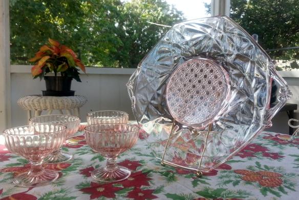 Lancaster Glass Sunshine Pattern Platter