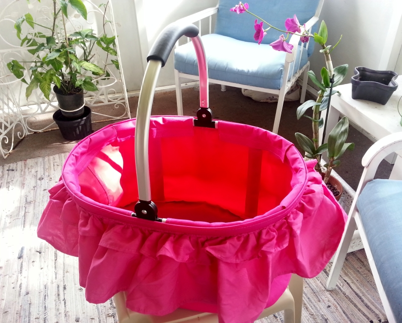 Hot Pink Market/Grocery Carrier