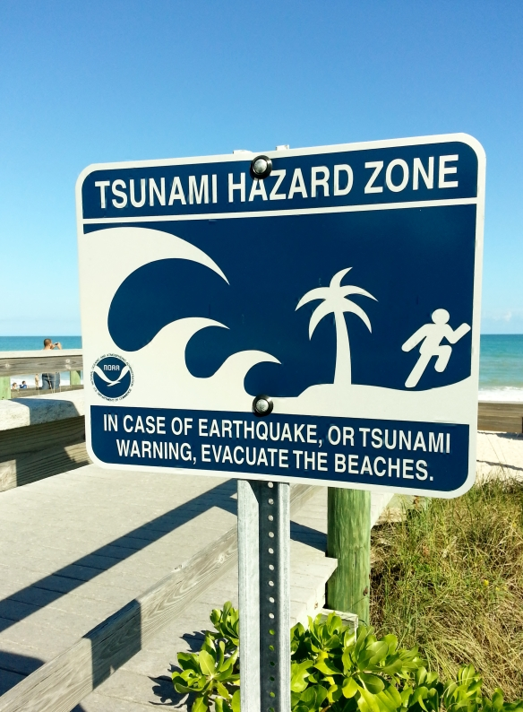 Tsunami Warning Signage, Vero Beach, 1/12/13