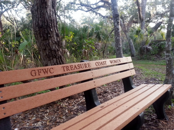 Park Benches abound at the Lagoon Greenway