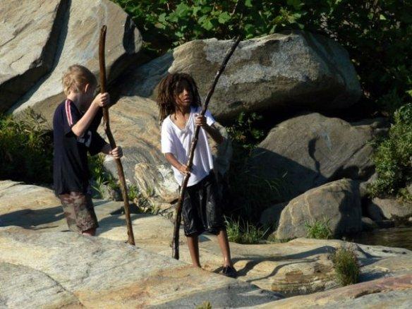 Young explorers among the Shelburne Falls potholes