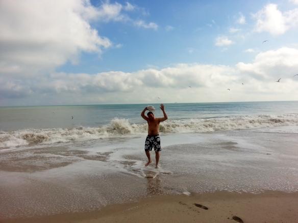 Jack at Jaycee Beach, 1/6/14