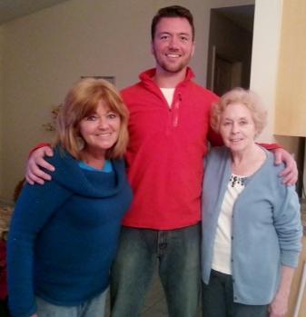 Karen, Jack, Rita, (left to right) 1/7/14