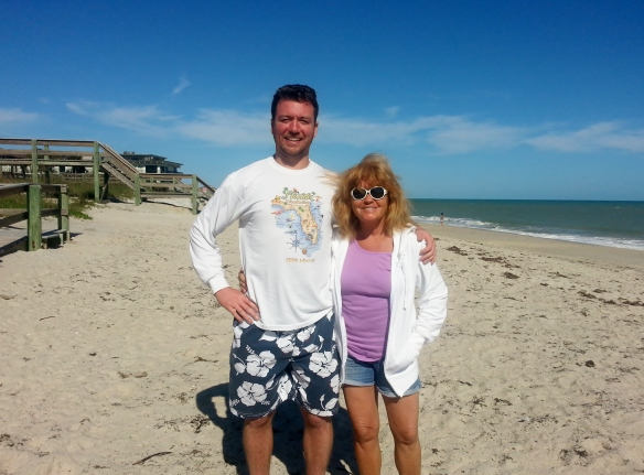 "Jack and ""big Ma"" at Jaycee Beach, 1/12/14"