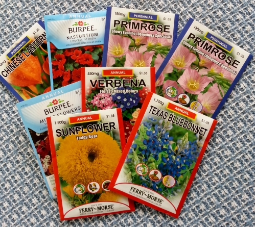 seed packets for 2014