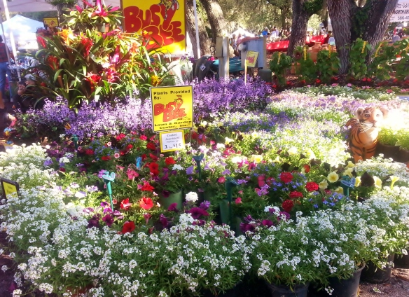 Busy Bee Lawn and Garden Center display, Gardenfest 2014