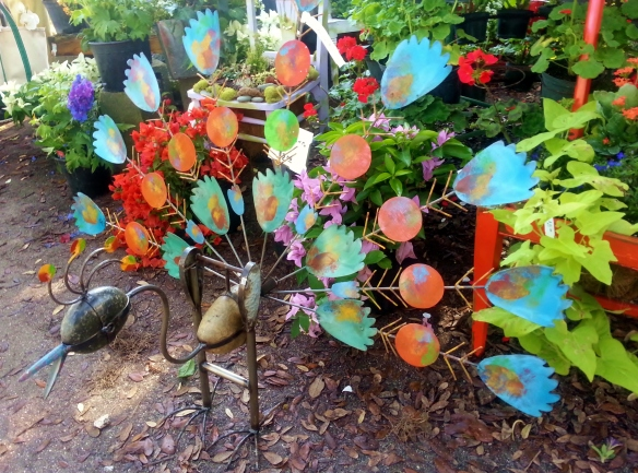 Peacock Garden Object, pic 2, Beech Annuals Display, Gardenfest 2014