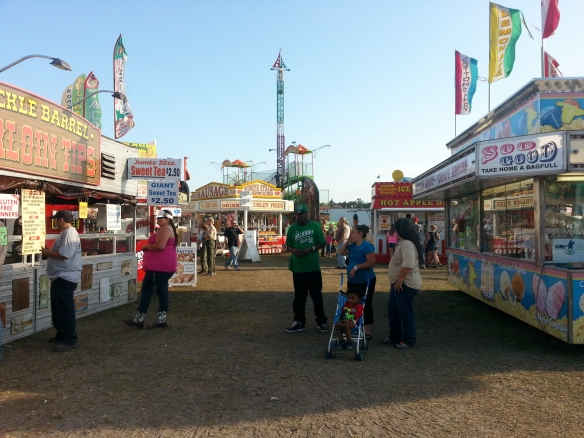 Inside the Midway, 3/15/14  Firemans' Fair, Indian River County