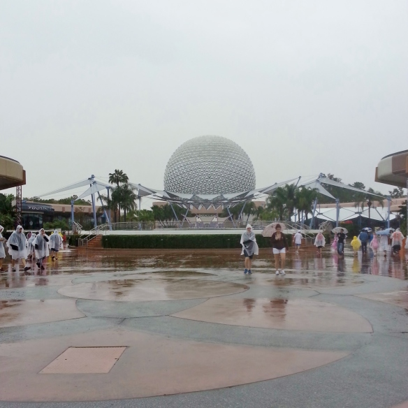 Rainy Day at Epcot, 3/29/14