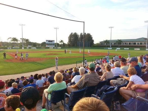 Manatees vs Flying Tigers, 4/15/14, Holman Stadium, Vero Beach