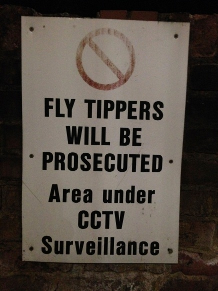 Fly tipping is what Americans call illegal dumping!