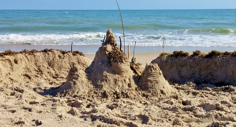 Sandcastle, Jaycee Beach, 1/6/15