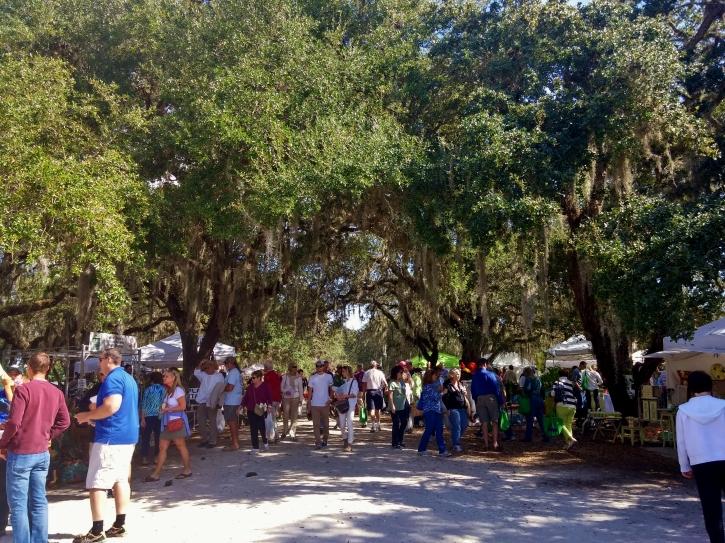 Under the oaks, Gardenfest 2015