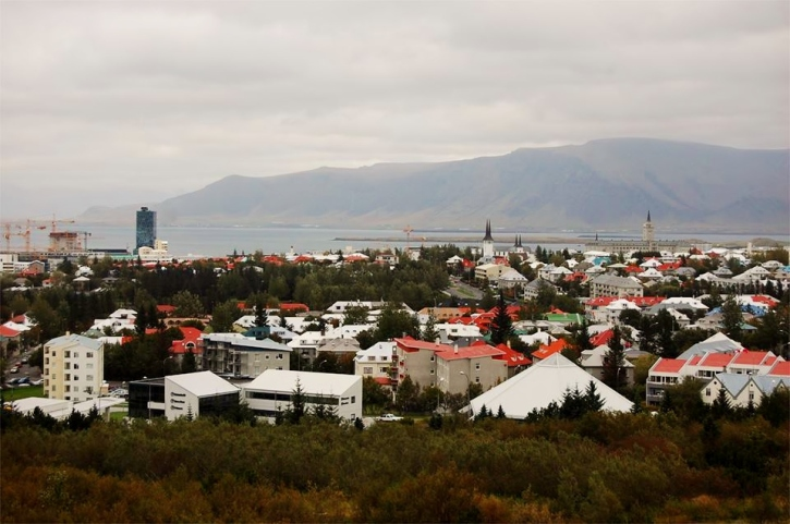 Reykjavik from Perlan Viewing Deck