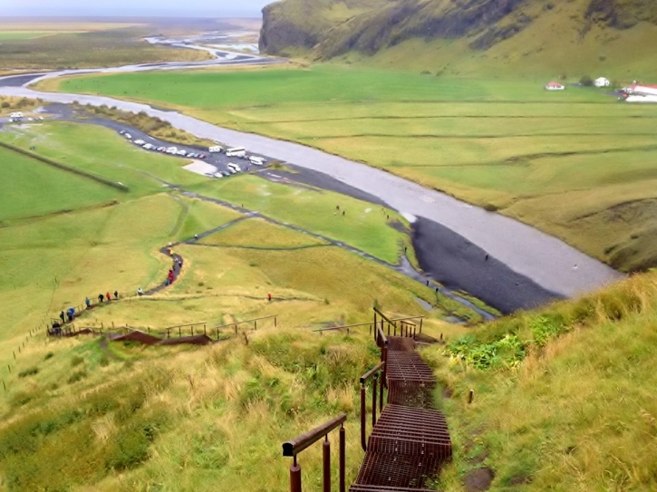 Steps at Skogafoss  Waterfall